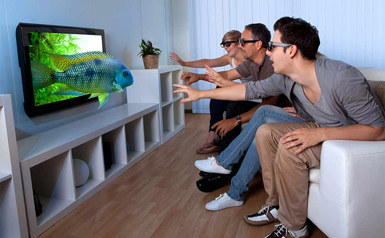 People Watching DIRECTV 3D Programming